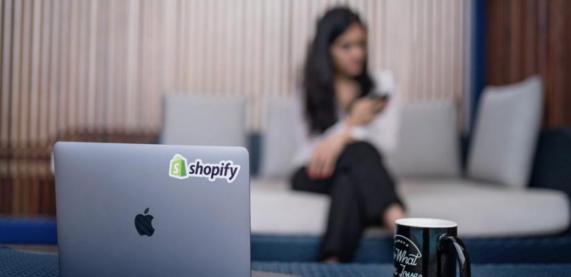 Shopify sticker on Computer